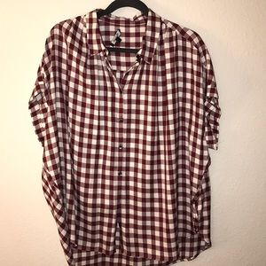 Madewell central shirt in cranberry gingham